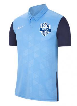 Фен тениска с яка – светло синя