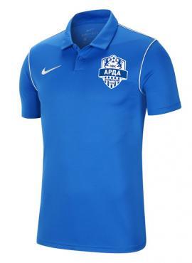 Фен тениска с яка – синя
